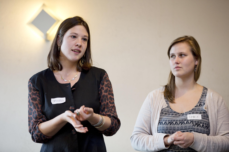 Studenten orthopedagogie Artesis Plantijn en dialoogtafel